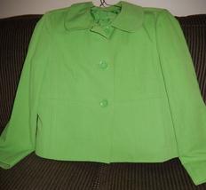Talbots Women's 2 Button Blazer Jacket Size 12 Green - $5.99