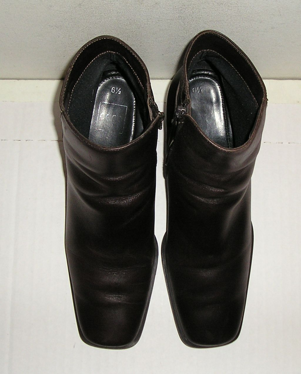 ECCO Women's Italian Brown Leather Ankle Dress Boots Shoes 6.5 UK / 8.5 - 9 US