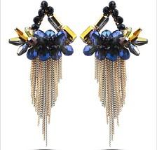 Crystal Handcrafted Women's Fashion Jewelry Bohemia Style Tassel Drop Ea... - $19.99