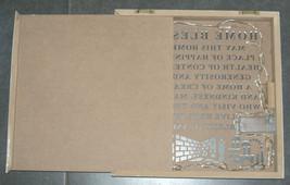 Judaica Kabbalah Home Blessing English Wood Laser Cut Light Wall Hang Mount  image 3