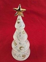 "Lenox White Goldtone Silvertone 9"" Lighted Tree... - $17.50"