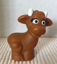 "2007 Sesame Street Workshop Cow Figurine 2-1/2"" Tall Mattel - $2.96"
