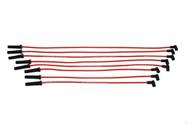 A-TEAM BBC CHEVY 396 402 427 454 502 HEI RED 8mm SPIRAL CORE SPARK PLUG WIRES RD image 2