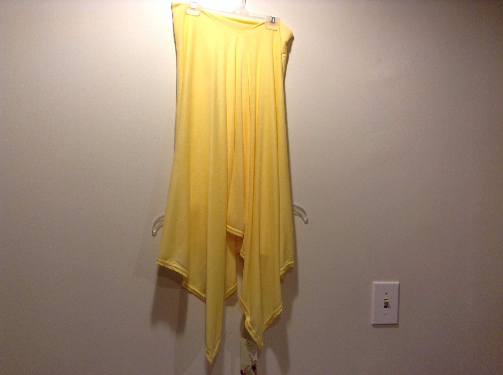 Adorable Life Is Beautiful 100% Polyester Yellow Poncho