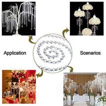 10Feet Diamond Prisms Glass Crystal Octagon Beads 14mm Wedding Chandelier Parts - $16.87