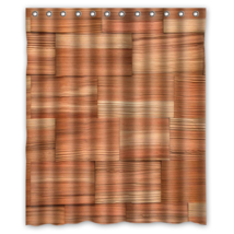 Wood Pattern #06 Shower Curtain Waterproof Made From Polyester - $31.26+