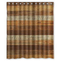 Wood Pattern #11 Shower Curtain Waterproof Made From Polyester - $31.26+