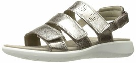 ECCO Women's Soft 5 3-Strap Flat Sandal Metallic Warm Gray EU 37 - $59.39