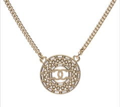 AUTHENTIC CHANEL LIMITED EDITION PEARL CRYSTAL CC MEDALLION CC PENDANT N... - $419.99