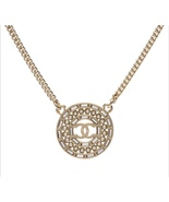 SALE**AUTH CHANEL LIMITED EDITION PEARL CRYSTAL CC MEDALLION CC PENDANT ... - $399.99