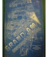 1986 PONTIAC GRAND AM  OWNERS OPERATORS MANUAL - £20.51 GBP