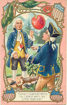 George Washington Confesses Vintage Post Card  - $7.00