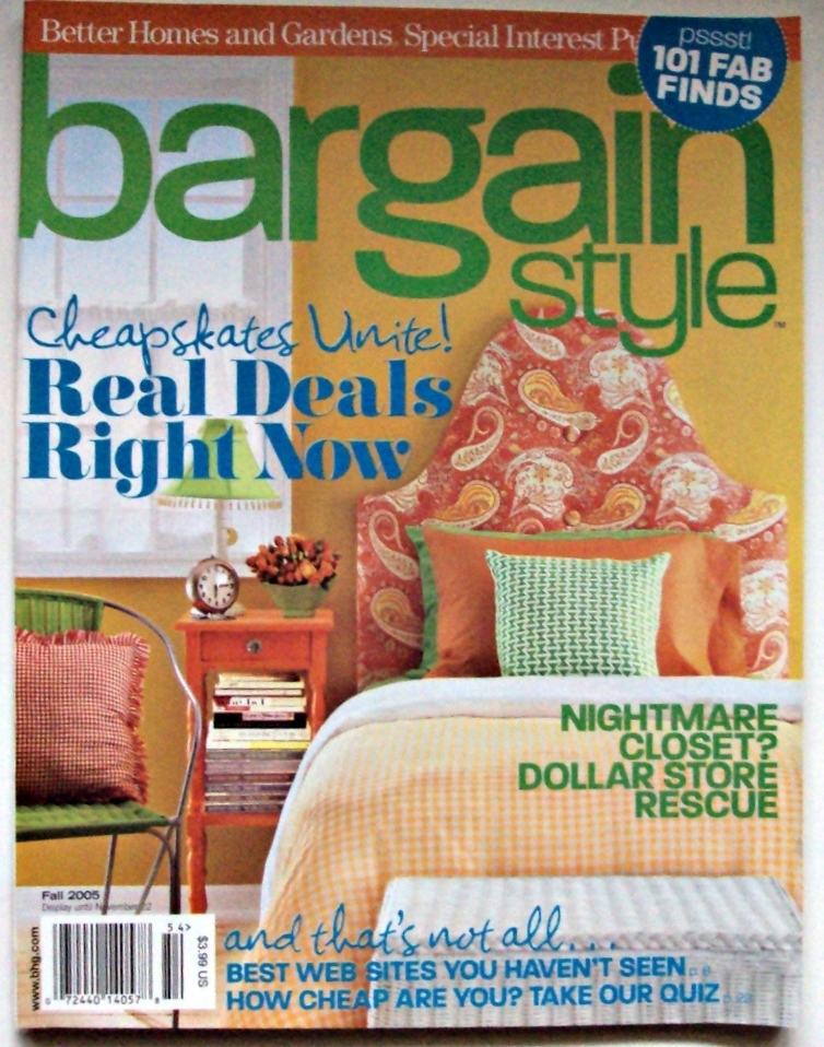 Better Homes & Garden Back Issue Bargain Style Magazine 2005