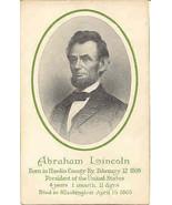 President Abraham Lincoln 1906 Vintage Post Card  - $7.00