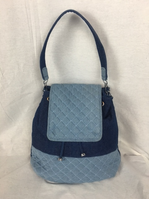 Blue on Blue Backpack Purse