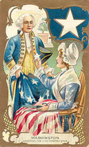 Betsy Ross and George Washington 1909 Vintage Post Card  - $7.00
