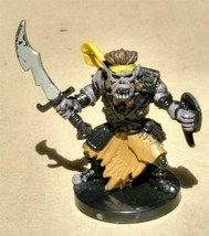 Dungeons & Dragons Miniatures Orc Raider #56 D&D Mini Collectible Wizards! - $4.99