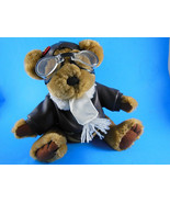 Pickford Bears Radar 1997 Aviator Pilot Brass Button w jacket & goggles ... - $9.69