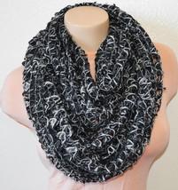 New STEVE MADDEN Cozy Lurex Open Weave Infinity Loop Womens Cowl Scarf B... - €11,93 EUR