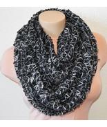 New STEVE MADDEN Cozy Lurex Open Weave Infinity Loop Womens Cowl Scarf B... - $12.98