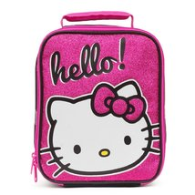 "Kids Lunch Box Hello Kitty ""Hello!"" Insulated Rectangle Lunch Bag+Bonus ... - $29.95"