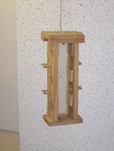 Wood-In-Things.com Small Hanging Tower,Thistle seed feeder,Cedar wood,Ea... - $24.95