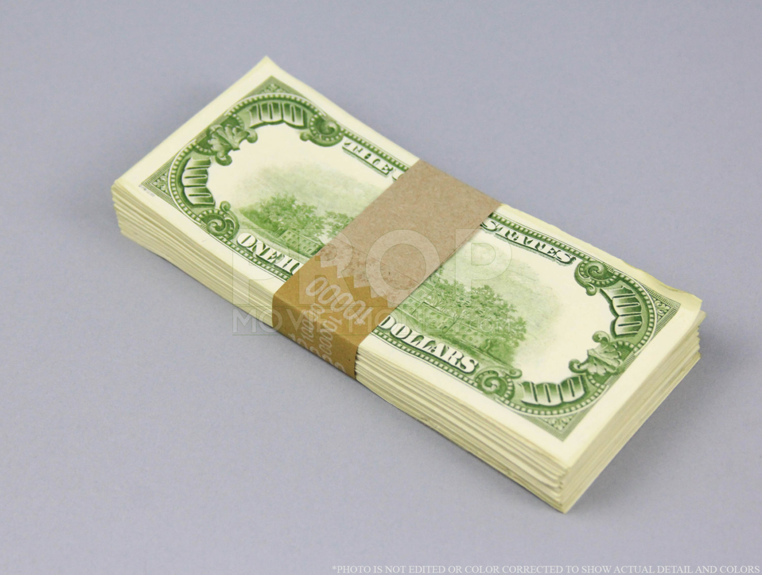 Prop Money Used Look Series 1980s 110,000 Blank Filler Pack for Movie, TV, Video