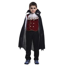 Halloween Girls and Boys Vampire Costumese Kids Black Lace Party Dress N... - $20.00