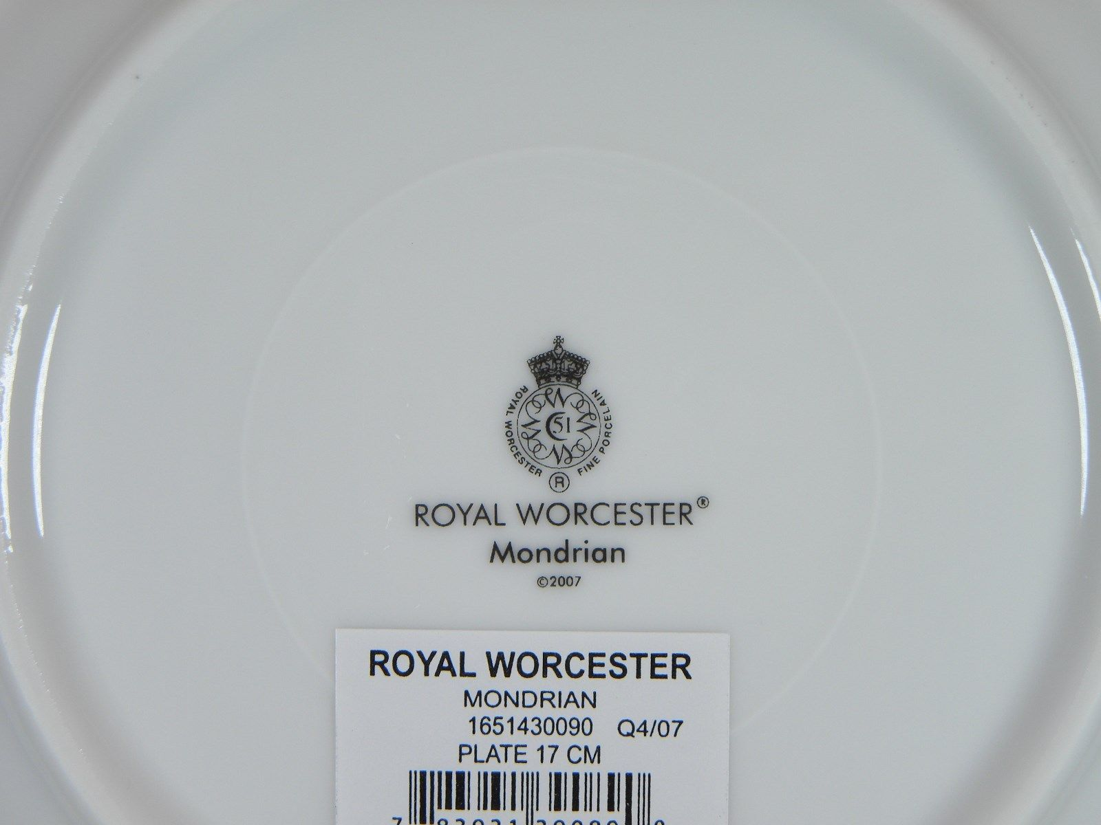 Royal Worcester Mondrian Bread & Butter Plates Set of 8 image 3