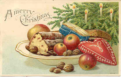 A Merry Christmas Vintage German Post Card