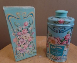 Vintage Avon 1978 CALIFORNIA Trailing ARBUTUS Perfumed TALC in Tin w BOX... - $23.00
