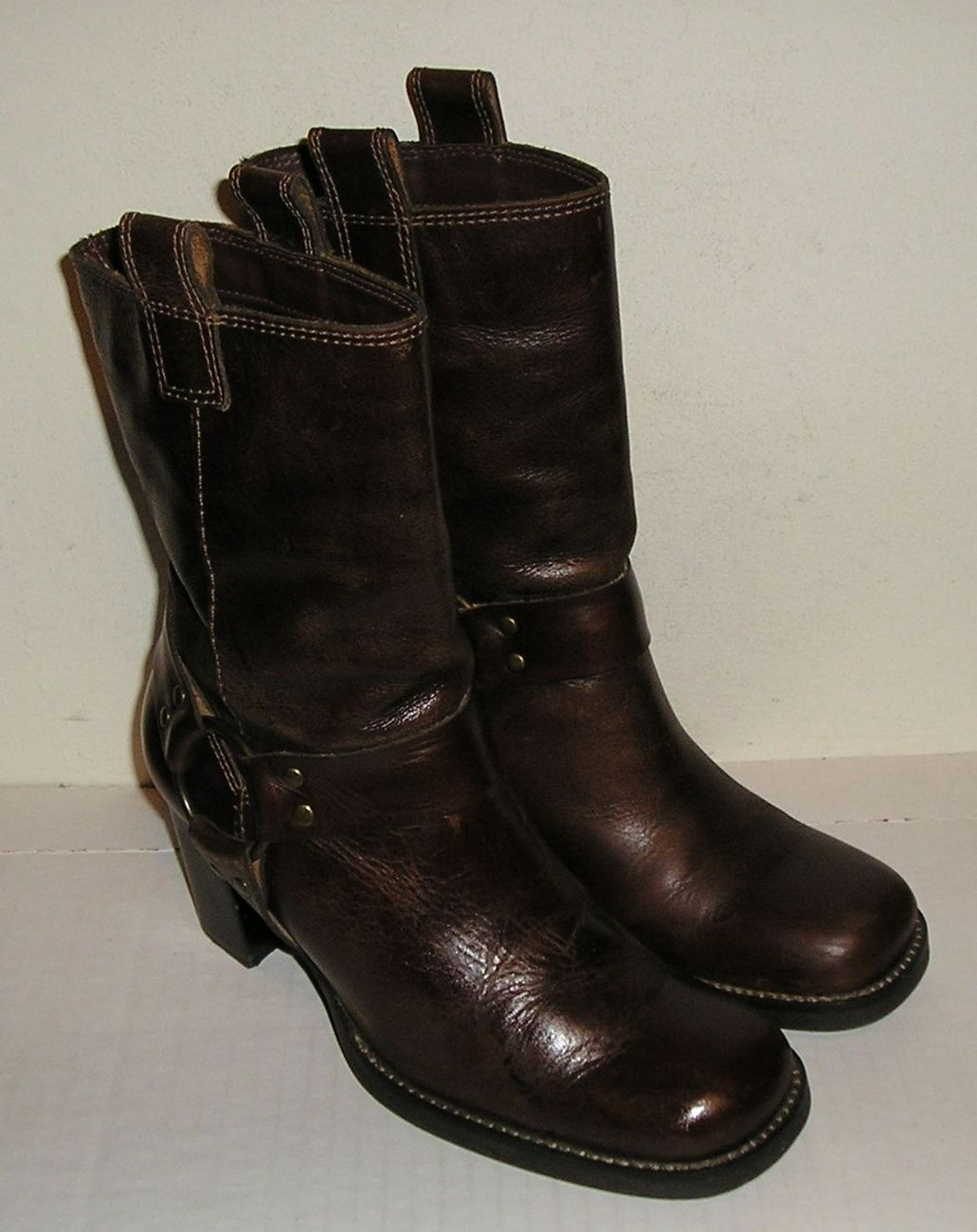 Mia women s brown leather riding boots 6.5 m   1