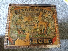 Kingsford's Silver Gloss Starch,corn product refining co.dove tailed box... - $128.25