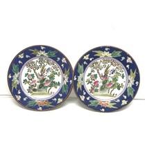 Macau Style Hand Painted Plates Cherry Tree and Phoenix Design Vintage - $55.28