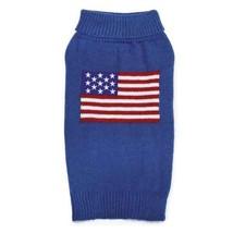 American Flag Knit Dog Turtleneck Sweater Pet  Zack & Zoey Elements Appa... - $23.99+