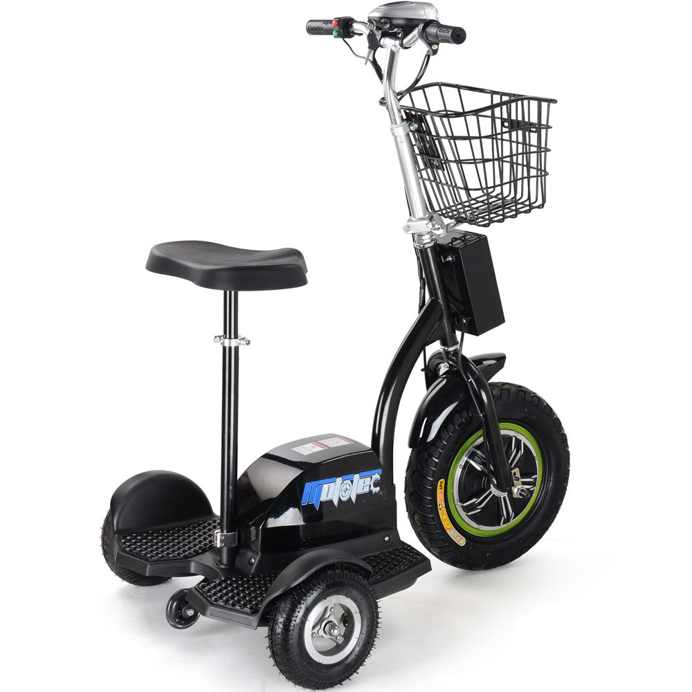 mototec 500w battery operated electric mobility 3 wheel transport scooter electric scooters. Black Bedroom Furniture Sets. Home Design Ideas