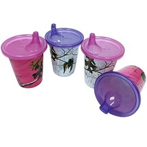 Copia On-The-Go Realtree Xtra Colors Pink and Purple Sippy Cups 7 oz, 4 Pack