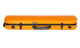 TONARELI Fiberglass Violin 4/4 OBLONG Hard Case - ORANGE - NEW with straps - $229.00