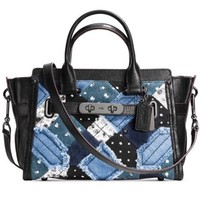 COACH 38075 CANYON QUILT DENIM SWAGGER 27 SATCH... - $256.41