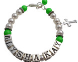 Name bracelet alysha neon green pearl thumb155 crop