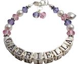 Name bracelet gabriella tanzanite heart charm thumb155 crop