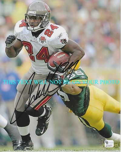 CADILLAC WILLIAMS SIGNED 8x10 RP PHOTO TB BUCCANEERS
