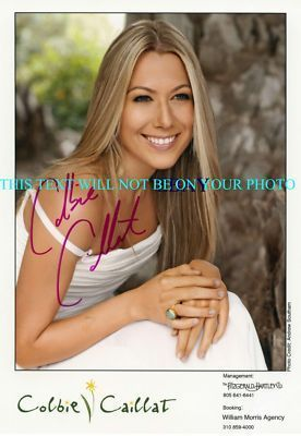 COLBIE CAILLAT SIGNED AUTOGRAPHED 8x10 RP STUDIO PROMO PHOTO  BUBBLY