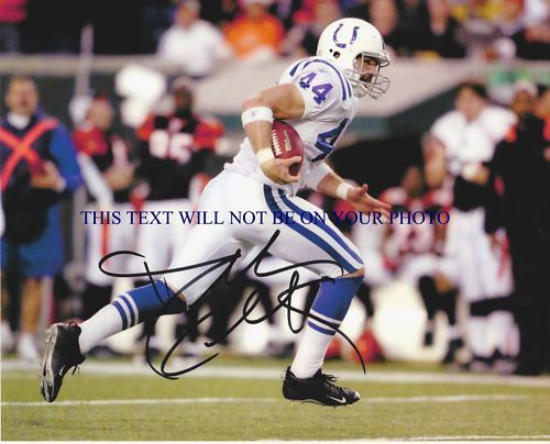 DALLAS CLARK SIGNED AUTOGRAPHED 8x10 RP PHOT INDI COLTS