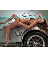DANICA PATRICK SIGNED AUTOGRAPHED 8x10 RP PHOTO NASCAR SEXY ON CAR - $12.99
