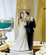 """Picture Perfect"" Couple Cake Topper Couple Cute Unique HAIR COLOR CUSTO... - $34.64"
