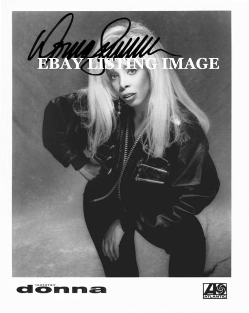 DONNA SUMMER SIGNED AUTOGRAPHED 8x10 RP STUDIO PROMO PUBLICITY PHOTO BAD GIRLS