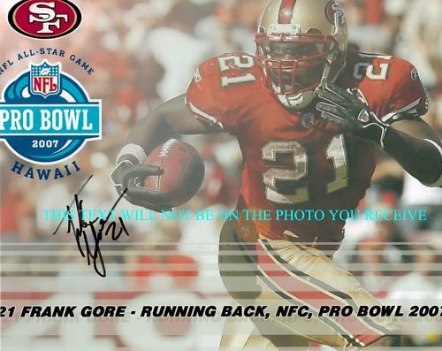 FRANK GORE SIGNED 8x10 RP PHOTO SAN FRANCISCO 49's