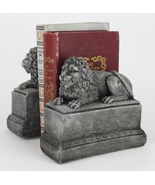 Lion Concrete Bookends Pair  - $64.00