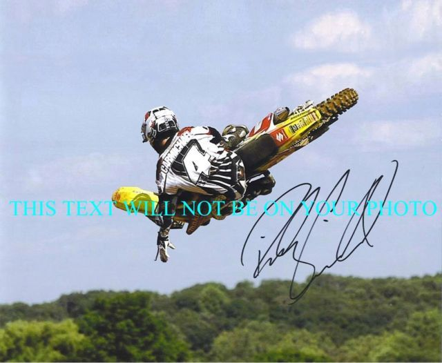 RICKY CARMICHAEL SIGNED AUTOGRAPHED 8x10 RP PHOTO X GAMES